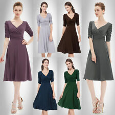 Polyester Short Sleeve Dresses for Women with Empire Waist