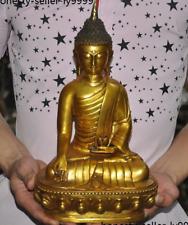 "12""Tibetan Buddhism bronze Gilt Thai Sakyamuni Shakyamuni Amitabha Buddha statue"