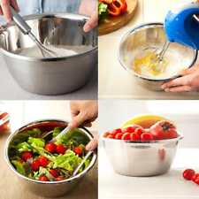 Thicken Stainless Steel Mixing Bowl Small Large Kitchen Egg Salad Dough Bakeware