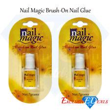 2 x Nail Magic Nail Glue Professional Brush False Acrylic Tips Strong Repair 7g