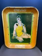 Vintage 1929 Coca-Cola tray with swimsuit model...