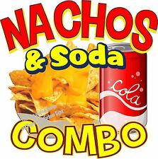 "Nachos Soda Combo Decal 7"" Restaurant Concession Food Truck Vinyl Sticker"