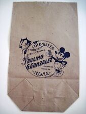 "Vintage ""Coloniales"" Grocery Bag w/ ""Felix The Cat"" & ""Mickey Mouse""   *"