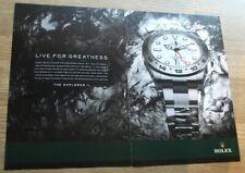 ROLEX Explorer II - Live for Greatness - WATCH ADVERT 10 x 14 inch WALL ART
