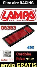 FILTRO AIRE RACING LAMPA 06383 SEAT IBIZA / CORDOBA 1999 / 2002