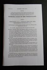 Rare Slip Opinion SAME SEX MARRIAGE GAY Case Obergefell Hodges US SUPREME COURT