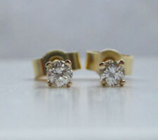 Butterfly Fastening Stud Fine Diamond Earrings