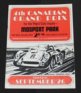 Rare 1964 Mosport Canadian Grand Prix Race Program - Pedro Rodriguez Ferrari Win