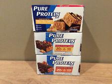 18 Pure Protein Bars Chocolate PB, PB Cup and Chocolate Peanut Carmel