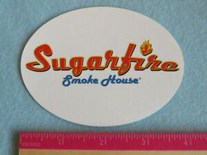 Food STICKER ~ SUGARFIRE Smoke House BBQ Caterer ~ Denver, COLORADO