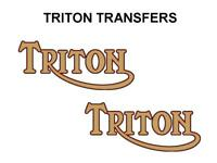 Triton Tank Transfers Decals Motorcycle Norton Triumph D500T7 Black Red Gold