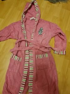 Bademantel Kinder Gr. 140 Pink Pferd Gebraucht Kapuze