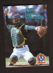 Oakland Athletics--1999 Spring Training Pocket Schedule--7Eleven