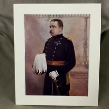 Antique Military Portrait Print Major French 19th Royal Hussars British Army