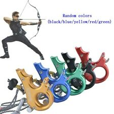 New listing Compound Bow Release Aids 3 Finger Grip Thumb Trigger Caliper Archery Hunting YU