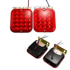 """2X 4.5"""" 12V Red LED Tail Light Brake Turn Signal Lamp for Car Boat Truck Trailer"""