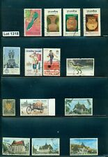 #1318-Thailand-selection of 14 Used/Mnh stamps from various years