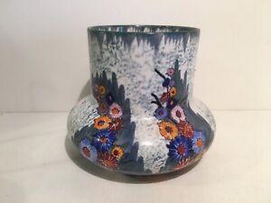Carlton Ware C W Garden Vase Matt Cream Sponged Green Ground 3473 465 c1930