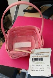 LONGABERGER 2014 JELLY BEAN - SMALL EASTER BASKET - DARK PINK - GORGEOUS - NEW