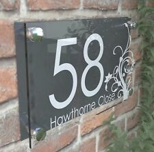 Clear Acrylic House Sign Modern Decorative Door Number Name Plaques Dec4-27WA