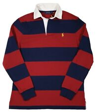 Polo Ralph Lauren Men's Red/Navy Stripe Iconic Rugby Classic Fit Polo Shirt