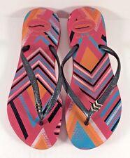 Havaianas Geometric Print Multicolor Flip Flops Womens Size US 6W
