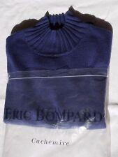 BOMPARD Pull Manche Courte Short Sleeve Cachemire Soie Cashmere Silk blue M