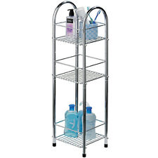 CHROME - Metal 3 Tier Storage Unit / Shelves - Silver ZPH1600730