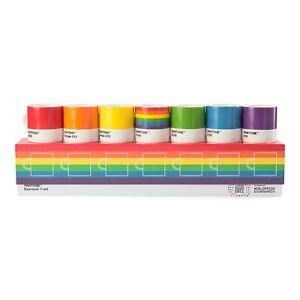 Pantone Espresso 7 Tasse Stolz Set. Farben Of The Lgbt + Regenbogen Flagge