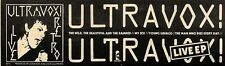 1/4/78PN21 Advert: Ultravox 'retro Live' The New Ep On Island Records 3x11