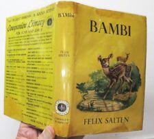 Bambi, Felix Salten, 1929, Grosset & Dunlap - 1st G&D Edition
