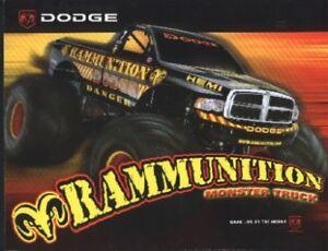 "2004 Dodge ""Rammunition"" Monster Truck Hero Card"