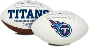 Tennessee Titans Full Size Embroidered Football [NEW] NFL Signature Autograph