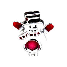 5pcs/lot Silver Enamel Snowman Christmas Locket Pendant Pearl Beads Cage K461