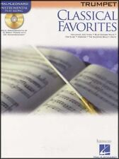 Classical Favorites Trumpet Instrumental Play-Along Sheet Music Book/CD