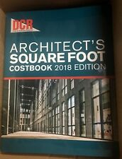2018 - DCR Architect's Square Foot Costbook - 2018 Edition - VG Condition -