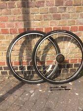 700c Road Racing Bike Front Rear Free Wheel Set 7 Speed