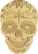 Palau $1 Catrina Skull 0,5 grams Silk Finish Gold Coin