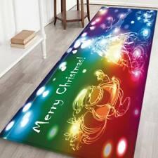 Christmas Rug Door Mats Flannel Non Slip Home Kitchen Bath Floor Mat Multi Size