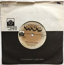 """Mud - Show Me You're A Woman - Private Stock Records Company 7"""" Sleeve Single"""
