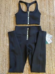 BNWT PE NATION H&M BLACK SCUBA SET SPORTS BRA LEGGINGS SIZE SMALL RARE SOLD OUT