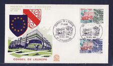 enveloppe 1er jour  paire  conseil de l' Europe  Strasbourg     1983