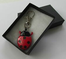 Perfect Gift Idea - Red & Black Ladybird Bug Watch Time Piece Key Handbag Charm