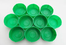 Pack of 10 MDI Protective Plastic Fishing Rod Tubes 2.5in (6.3cm) End Caps Green