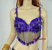 Brand New Sexy Belly Dance Bra Top Purple Color 34 B-C Hand Made