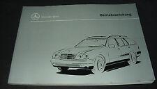 Betriebsanleitung Mercedes E-Klasse T-Modell E 200 230 290 420 Turbodiesel W 210