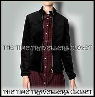 FRED PERRY Amy Winehouse RARE Black THICK Velvet HARRINGTON Jacket UK 8 RP £299