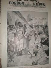The slave market in Morocco City 1905 print Ref L