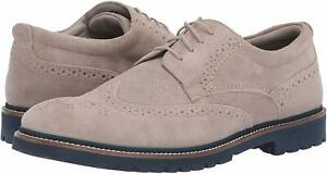 Rockport Men's Marshall Wingtip Suede Lace-Up Oxfords Stone