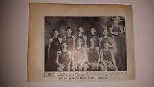 St. Francis College Loretto Pennsylvania 1911-12 Basketball Team Picture